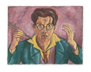 Selbstportrait (Self-portrait) by Max Bill contemporary artwork