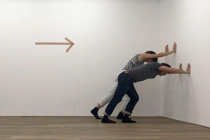 Exhibition view: Esther Kläs, ll (elle elle) (long lines),Xavier Hufkens, 107rue St-Georges, St-Jorisstraat (21 January–27 February 2021).Courtesy Xavier Hufkens, Brussels.
