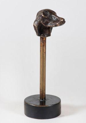 Tête de chien montée sur socle by Diego Giacometti contemporary artwork