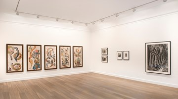 Contemporary art exhibition, Nalini Malani, Ana Mendieta, Nancy Spero, Trio at Galerie Lelong & Co. Paris, 13 Rue de Téhéran, Paris, France