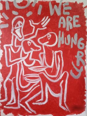 We Are Hungry by Artist D contemporary artwork