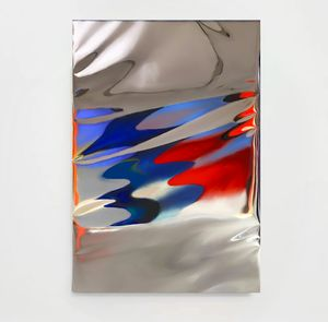 Red and Blue Selfie by Gioele Amaro contemporary artwork