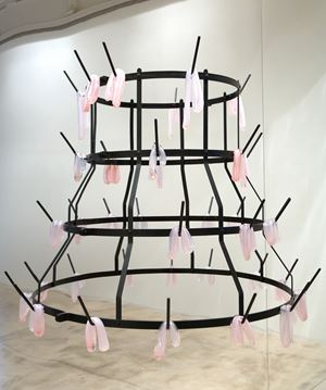 On the Rack (pink) by Monica Bonvicini contemporary artwork