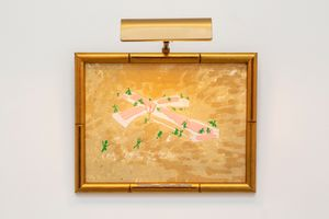 Pink Cross and Green Buds by Paul Thek contemporary artwork painting