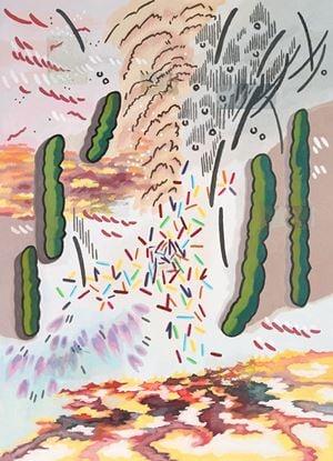 Cat Shadow on Armor 1 갑옷 위의 옹기종기 고양이 그림자 1 by Woo Tae Kyung contemporary artwork