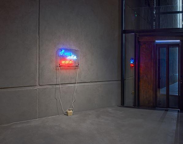 Installation view: Ian Hamilton Finlay Room #5,Kewenig Berlin (12 May–30 May 2020). © The Estate of Ian Hamilton Finlay. Courtesy Kewenig. Photo: Lepkowski Studios, Berlin.