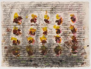 Ode to Monet #6 by Jack Whitten contemporary artwork