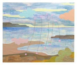 Okända landskap med trådar 2 by Carin Ellberg contemporary artwork