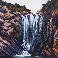 Falling Water by Neil Frazer contemporary artwork painting, works on paper