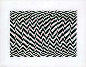 Untitled [Fragment 3] by Bridget Riley contemporary artwork