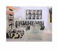 Interior with Marilyn by Kate Gottgens contemporary artwork painting, works on paper