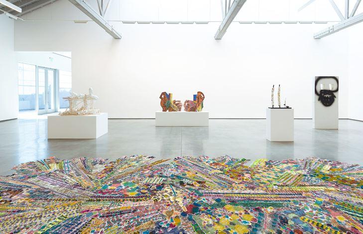 Exhibition view: Group exhibition, Taurus and the Awakener, David Kordansky Gallery, Los Angeles (21 July–25 August 2018). Courtesy David Kordansky Gallery, Los Angeles. Photo: Jeff McLan.