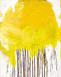 Schüttbild by Hermann Nitsch contemporary artwork painting, works on paper