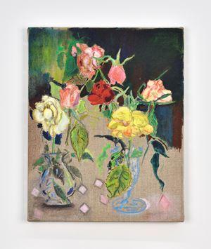 Roses dans un Verre à Champagne en Plastique by Emily Sundblad contemporary artwork