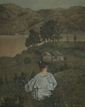 Looking at a Mountain 觀山 by Wei Dong contemporary artwork