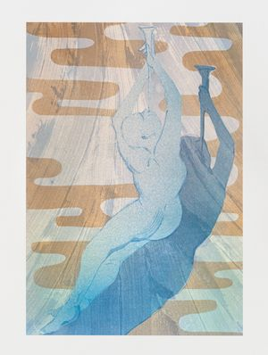 Sound the trumpets Saint Cecilia by Matthew Lutz-Kinoy contemporary artwork