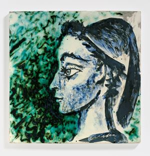 Femme au foulard [Woman with scarf] by Pablo Picasso contemporary artwork