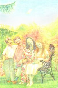 Paper Family by Jang Jongwan contemporary artwork painting, works on paper, drawing