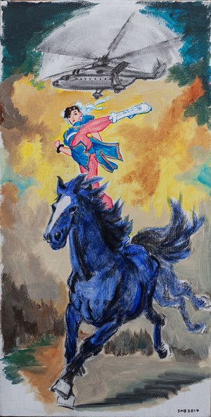 The Indigo Horse by Feng Mengbo contemporary artwork