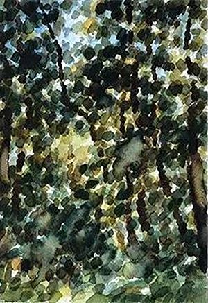 Watercolor in the Forest No.1 by Wang Jun contemporary artwork painting, works on paper