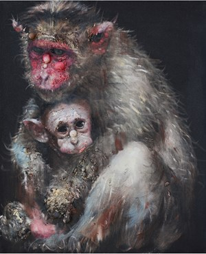 Lonely Monkey #5 by Li Tianbing contemporary artwork painting