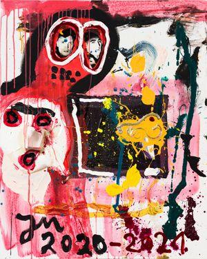 FENSTERZ ZUM HOFBRÄU! by Jonathan Meese contemporary artwork painting, mixed media