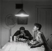 Untitled (Playing harmonica) by Carrie Mae Weems contemporary artwork photography