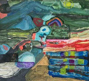 Still Life Composition(1): Horizontal Landscape by Jhong Jiang-Ze contemporary artwork