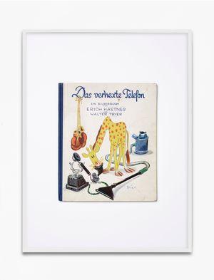 Erich Kästner, Das verhexte Telefon, 1935, Williams & Co. Verlag GmbH, Berlin-Grunewald, Copyright Atrium Verlag AG, Zürich, 1935, Einbandzeichnung Walter Trier by Annette Kelm contemporary artwork print