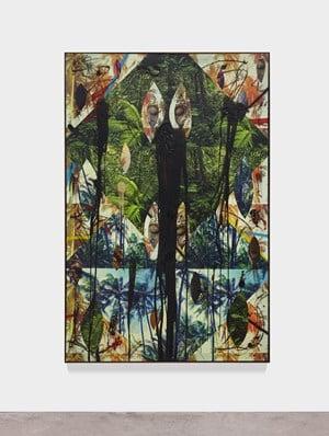 Untitled Escape Collage by Rashid Johnson contemporary artwork