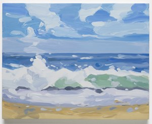 Beach Wave October by Maureen Gallace contemporary artwork