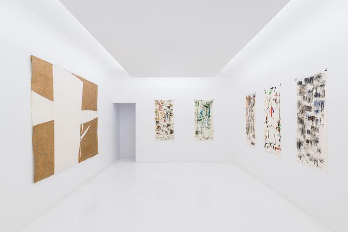 Exhibition view: Sadaharu Horio,Axel Vervoordt Gallery, Hong Kong (12 September–27 October 2018).Courtesy the artist and Axel Vervoordt Gallery.