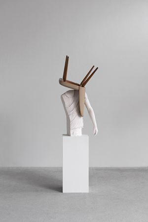 One Minute Forever (chair) by Erwin Wurm contemporary artwork