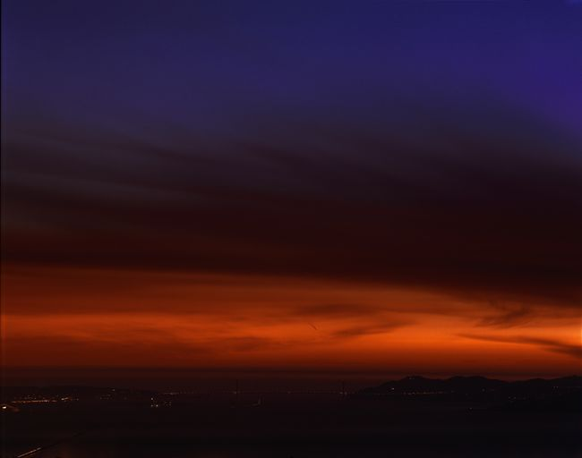 Golden Gate Bridge, 10.10.99, 7:15pm by Richard Misrach contemporary artwork