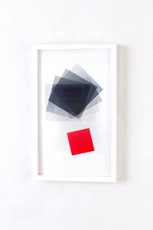 Black Squared Red Square by Babak Golkar contemporary artwork print