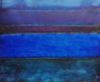 Landschaftsmeditation by Herbert Beck contemporary artwork painting