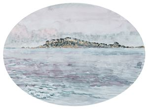 Yehliu Promontory under Twilight by Chuan-Chu Lin contemporary artwork