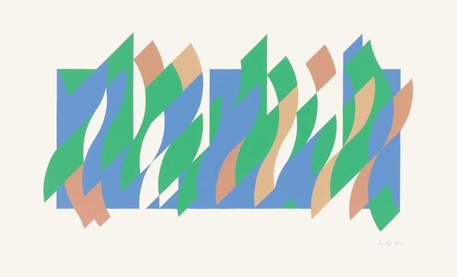 Wall Painting 1 (print) by Bridget Riley contemporary artwork