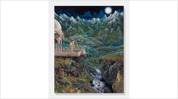 Contemporary art exhibition, Raqib Shaw, Reflections Upon the Looking-Glass River at Pace Gallery, Geneva