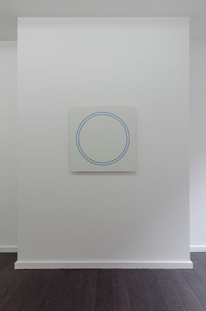 Blue Circle Painting by Winston Roeth contemporary artwork