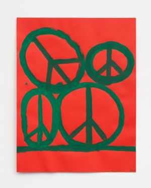Peace by Chris Martin contemporary artwork painting, works on paper