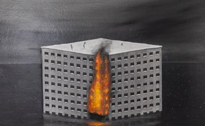 Enjoy death Mr.Building by Shiori Eda contemporary artwork