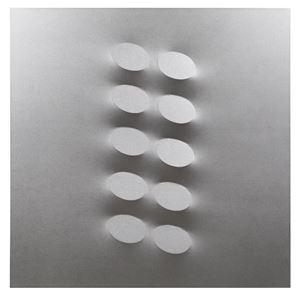 10 ovali argento by Turi Simeti contemporary artwork