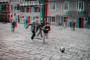 Ragazzi al gioco in Campo Santa Maria Formosa, Venezia by Alberto Fanelli contemporary artwork