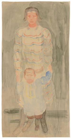 Mother with child by Otto Meyer-Amden contemporary artwork