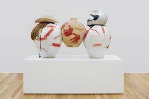Two Americans Breaking a Persian Pot by Hadi Fallahpisheh contemporary artwork