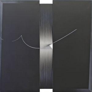 Come una traccia di parapendio by Alberto Biasi contemporary artwork
