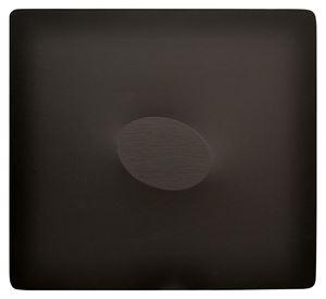 Un ovale nero by Turi Simeti contemporary artwork