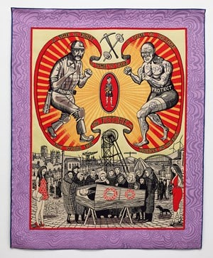 Death of a Working Hero by Grayson Perry contemporary artwork