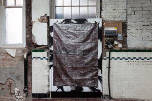 Rip-Stop Standard Duty Brown Tarp (Black) by Gardar Eide Einarsson contemporary artwork